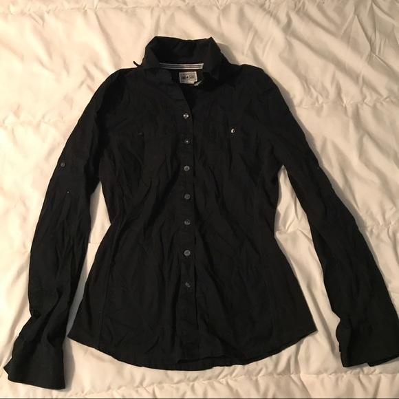 converse button down shirt